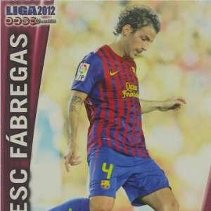 445 Cesc Fábregas. Barcelona Liga BBVA 2012 Official quiz game collection 2011 2012 Mundicromo 11 12