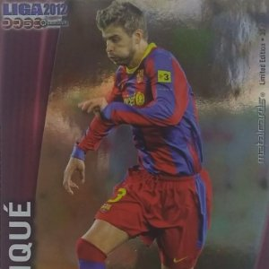008 Pique Metalcards Limited edition Barcelona Liga BBVA 2012 Official quiz 2011 2012 Mundicromo