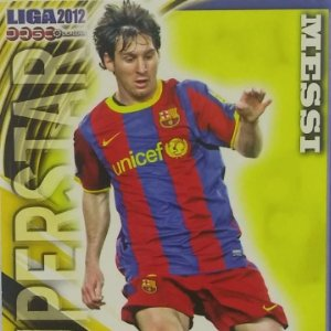 026 Messi Superstar Barcelona Liga BBVA 2012 Official quiz 2011 2012 Mundicromo 11 12
