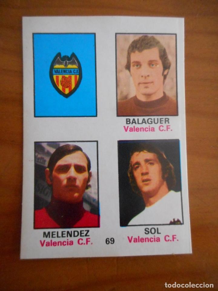 CAMPEONATO LIGA 1974/1975.(74-75). Nº 69. FHER. VALENCIA. ESCUDO, BALAGUER, MELÉNDEZ, SOL. NUEVO (Coleccionismo Deportivo - Álbumes y Cromos de Deportes - Cromos de Fútbol)