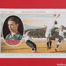 Cromos de Fútbol: MARTINEZ SAGI FC BARCELONA FOOT-BALL JUGADORES NOTABLES CROMO NUMERO 1 AÑOS 20 SIN PUBLICIDAD. Lote 157997832