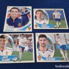 Cromos de Fútbol: LOTE 4 CROMOS LIGA ESTE 2012 -13 (REAL ZARAGOZA) Nº FICHAJE 25- COLOCA 14 BIS - ENTRENADOR YNº 5 . Lote 158155042
