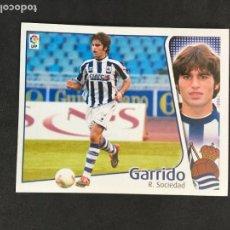 Cromos de Fútbol: CROMO LIGA 2004-2005 ESTE, COLOCA GARRIDO REAL SOCIEDAD NUNCA PEGADO NUEVO SIN USAR. Lote 158553450