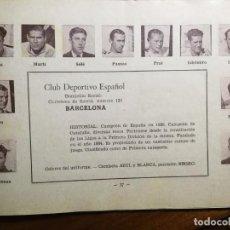 Cromos de Fútbol: R. C. D. ESPAÑOL - TEMPORADA 34/35 1934/35 - HOJA DE ESTE EQUIPO DE LA GUÍA FUTBOLISTICA . Lote 159292610