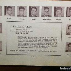 Cromos de Fútbol: ATHLETIC CLUB LAS PALMAS - TEMPORADA 34/35 1934/35 - HOJA DE ESTE EQUIPO DE LA GUÍA FUTBOLISTICA . Lote 159296026