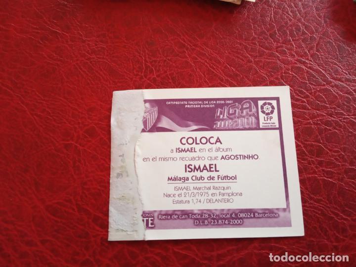 Cromos de Fútbol: ISMAEL MALAGA ED ESTE LIGA CROMO 00 01 FUTBOL 2000 2001 - VENTANILLA - 124 COLOCA - Foto 2 - 159344422