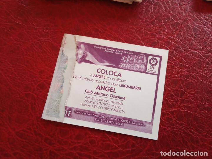 Cromos de Fútbol: ANGEL OSASUNA ED ESTE LIGA CROMO 00 01 FUTBOL 2000 2001 - VENTANILLA - 163 COLOCA - Foto 2 - 159345818