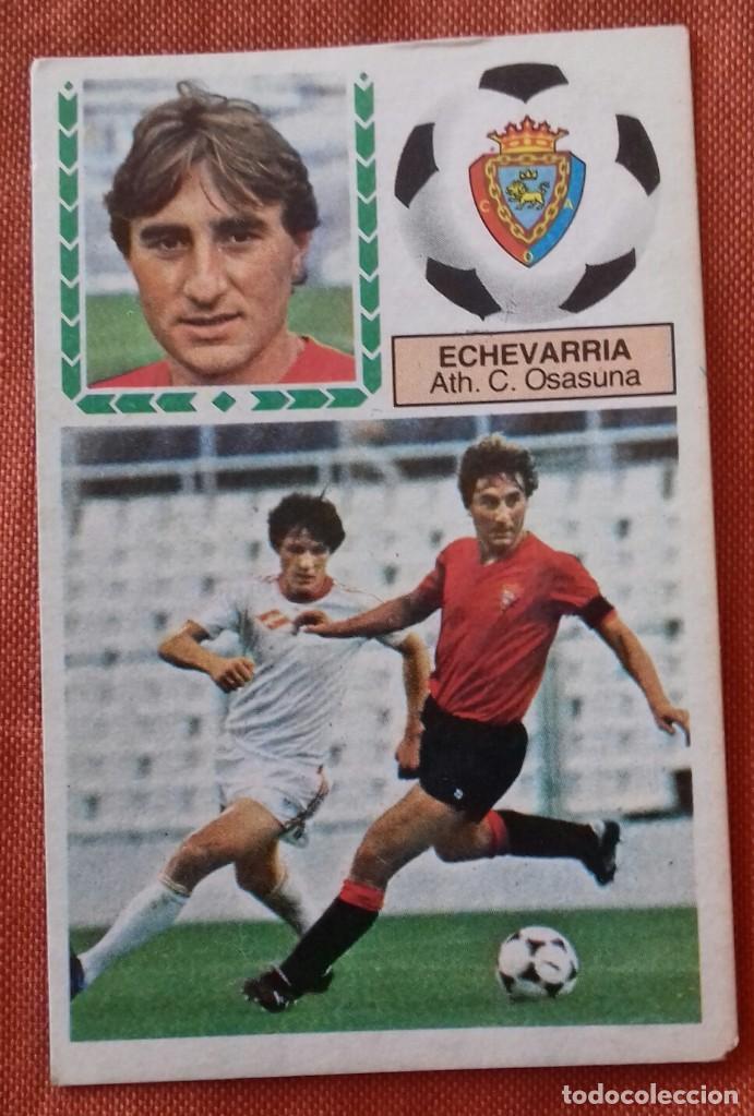 CROMO FUTBOL. LIGA 83-84. ECHEVARRIA / ATH. C. OSASUNA. EDICIONES ESTE. (Coleccionismo Deportivo - Álbumes y Cromos de Deportes - Cromos de Fútbol)