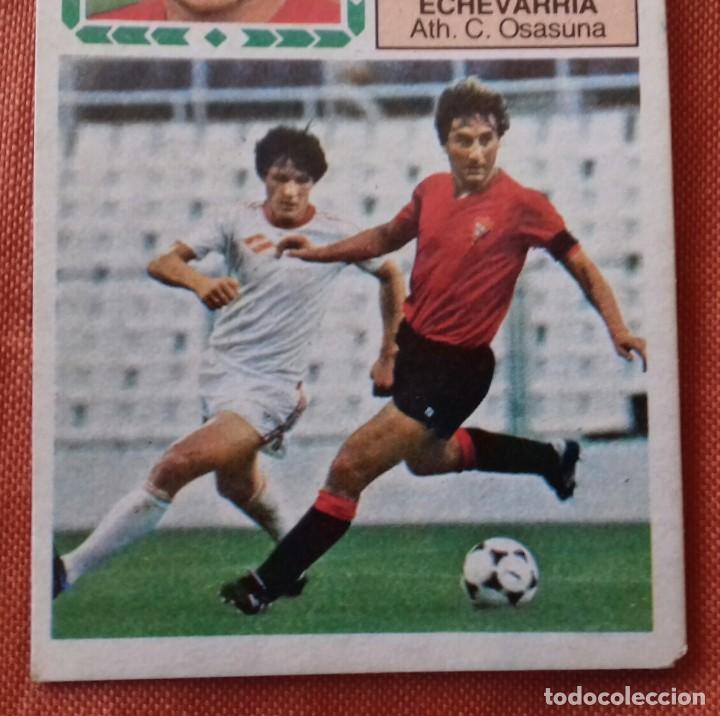 Cromos de Fútbol: Cromo futbol. LIGA 83-84. ECHEVARRIA / ATH. C. OSASUNA. Ediciones Este. - Foto 3 - 159583030