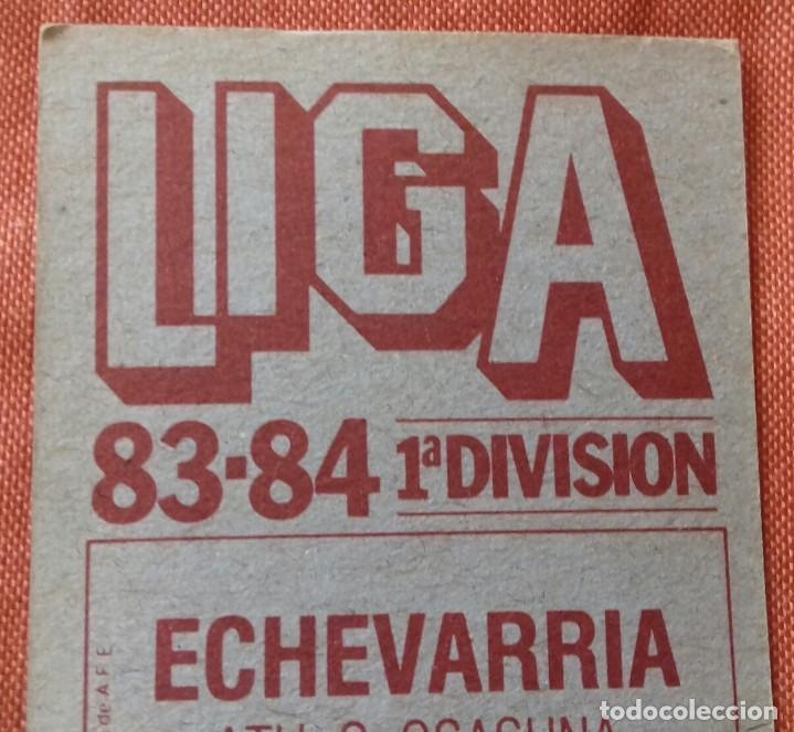 Cromos de Fútbol: Cromo futbol. LIGA 83-84. ECHEVARRIA / ATH. C. OSASUNA. Ediciones Este. - Foto 5 - 159583030