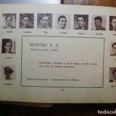 Cromos de Fútbol: MONTIJO F. C. - TEMPORADA 34/35 1934/35 - HOJA DE ESTE EQUIPO DE LA GUÍA FUTBOLISTICA. Lote 159614094