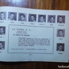 Cromos de Fútbol: LA PALMA F. C. ( LA PALMA DEL CONDADO) - TEMPORADA 34/35 1934/35 - HOJA DE LA GUÍA FUTBOLISTICA. Lote 159631246