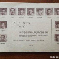 Cromos de Fútbol: CLUB UNIÓN SPORTING DE VIGO - TEMPORADA 34/35 1934/35 - HOJA DE LA GUÍA FUTBOLISTICA. Lote 159655422