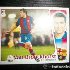 Cromos de Fútbol: VAN BRONCKHORST DEL BARCELONA ALBUM ESTE LIGA 2004 - 2005 ( 04 - 05 ). Lote 194524830