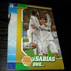 Cromos de Fútbol: -MEGACRACKS 10-11 : 407 SABIAS QUE ? ( REAL MADRID ) -- RAREZA ERROR DE CORTE --. Lote 159760706