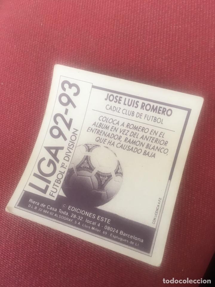 Cromos de Fútbol: Este 92 93 1992 1993 sin pegar Cadiz romero coloca - Foto 2 - 159769074
