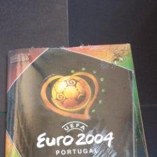 Cromos de Fútbol: EURO 2004 PORTUGAL - PANINI - ALBUM VACIO + COLECCIÓN COMPLETA SIN PEGAR (PRECINTADA DE FÁBRICA). Lote 159795750