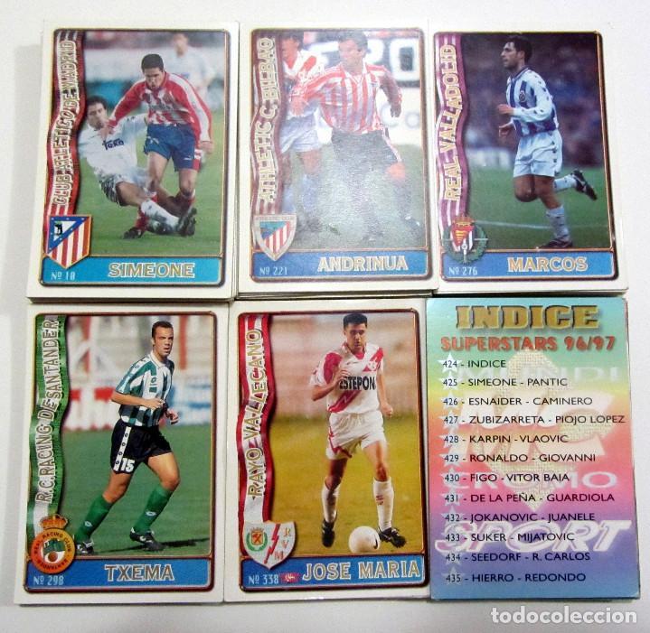 LOTE DE 150 DIFERENTES FICHAS MUNDICROMO 96-97 MC SUPERSTARS INCLUIDAS 1996 1997 (Coleccionismo Deportivo - Álbumes y Cromos de Deportes - Cromos de Fútbol)
