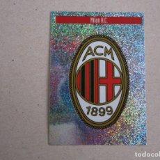 Cromos de Fútbol: PANINI MEJORES EQUIPOS EUROPA 97 98 LETRA N ESCUDO MILAN A.C. 1997 1998 NUEVO. Lote 270240618