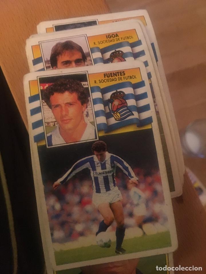 ESTE 90 91 1990 1991 REAL SOCIEDAD GONZÁLEZ SIN PEGAR FUENTES (Coleccionismo Deportivo - Álbumes y Cromos de Deportes - Cromos de Fútbol)