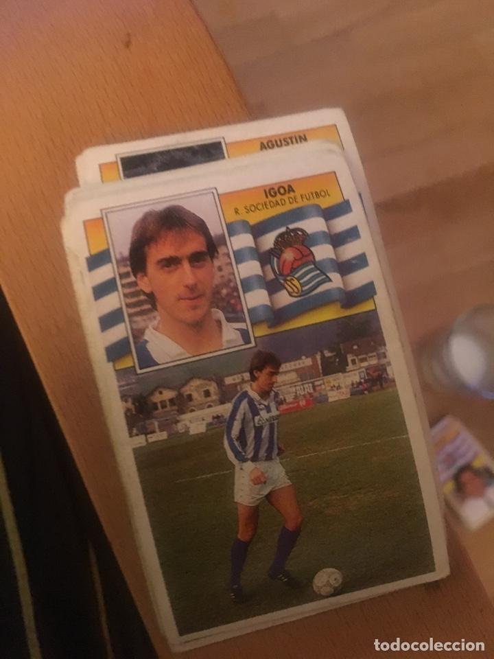 ESTE 90 91 1990 1991 REAL SOCIEDAD IGOA SIN PEGAR (Coleccionismo Deportivo - Álbumes y Cromos de Deportes - Cromos de Fútbol)