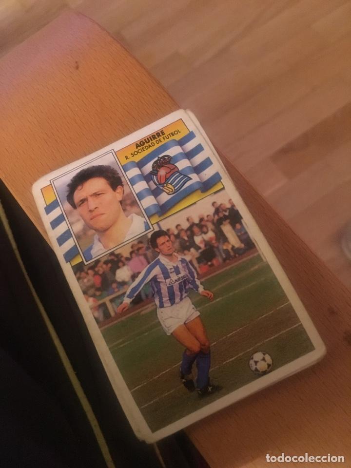 ESTE 90 91 1990 1991 REAL SOCIEDAD AGUIRRE SIN PEGAR (Coleccionismo Deportivo - Álbumes y Cromos de Deportes - Cromos de Fútbol)