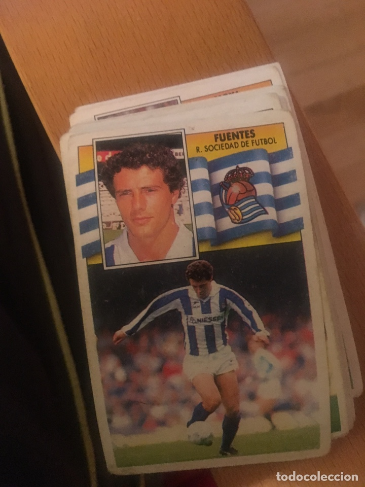 ESTE 90 91 1990 1991 REAL SOCIEDAD FUENTES SIN PEGAR (Coleccionismo Deportivo - Álbumes y Cromos de Deportes - Cromos de Fútbol)