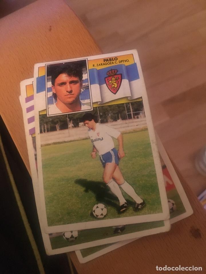 ESTE 90 91 1990 1991 ZARAGOZA SIN PEGAR PABLO (Coleccionismo Deportivo - Álbumes y Cromos de Deportes - Cromos de Fútbol)