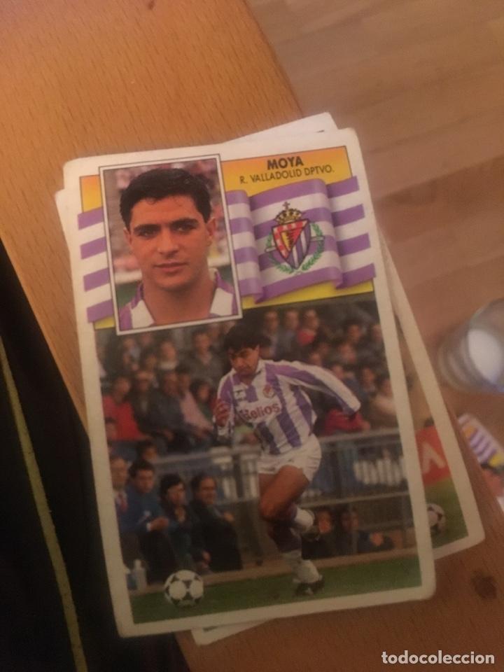 ESTE 90 91 1990 1991 VALLADOLID SIN PEGAR MOYA (Coleccionismo Deportivo - Álbumes y Cromos de Deportes - Cromos de Fútbol)