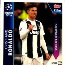 Cartes à collectionner de Football: OD 16 RONALDO - JUVENTUS - ROUND OF 16 ON DEMAND - TOPPS UEFA CHAMPIONS LEAGUE MATCH ATTAX 18 19. Lote 160181994