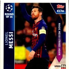 Cromos de Fútbol: OD 20 LEO MESSI - BARCELONA - ROUND OF 16 ON DEMAND - TOPPS UEFA CHAMPIONS LEAGUE MATCH ATTAX 18 19. Lote 160182186