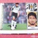Cromos de Fútbol: ESTE 97-98 COLOCA PABLO MERIDA ERROR EN EL CORTE SIN PEGAR. Lote 160445558