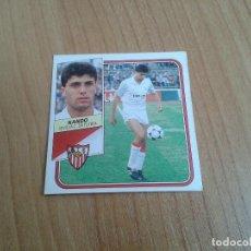 Cromos de Fútbol: NANDO -- SEVILLA -- 89/90 -- ESTE -- NUNCA PEGADO. Lote 160493366