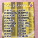 Cromos de Fútbol: 2010-2011 - 292 INDICE - RCD ESPANYOL - MUNDICROMO. Lote 160584422