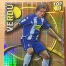 Cromos de Fútbol: 2010-2011 - 609 VERDU (CUADRADOS AMARILLO) - RCD ESPANYOL - MUNDICROMO. Lote 160589598