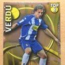 Cromos de Fútbol: 2010-2011 - 609 VERDU (LISO AMARILLO) - RCD ESPANYOL - MUNDICROMO. Lote 160589634