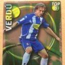 Cromos de Fútbol: 2010-2011 - 609 VERDU (LISO VERDE) - RCD ESPANYOL - MUNDICROMO. Lote 160589694