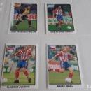 Cromos de Fútbol: LOTE 4 CROMOS ATLETICO DE MADRID COLECCION SUPERFUTEBOL 99 PANINI -ATM. Lote 160754342