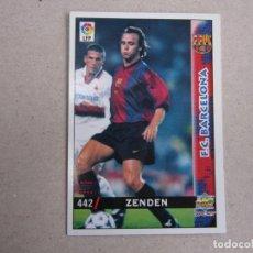 Cartes à collectionner de Football: MUNDICROMO FICHAS LIGA 98 99 ULTIMA HORA I UH Nº 442 ZENDEN BARCELONA 1998 1999 NUEVO. Lote 161352694