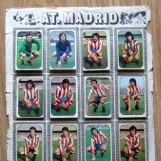 Cromos de Fútbol: ALBUM EDICIONES ESTE LIGA 1976/77 76-77 PAGINA ATLETICO DE MADRID ATHLETIC DE BILBAO IRIBAR. Lote 161535602