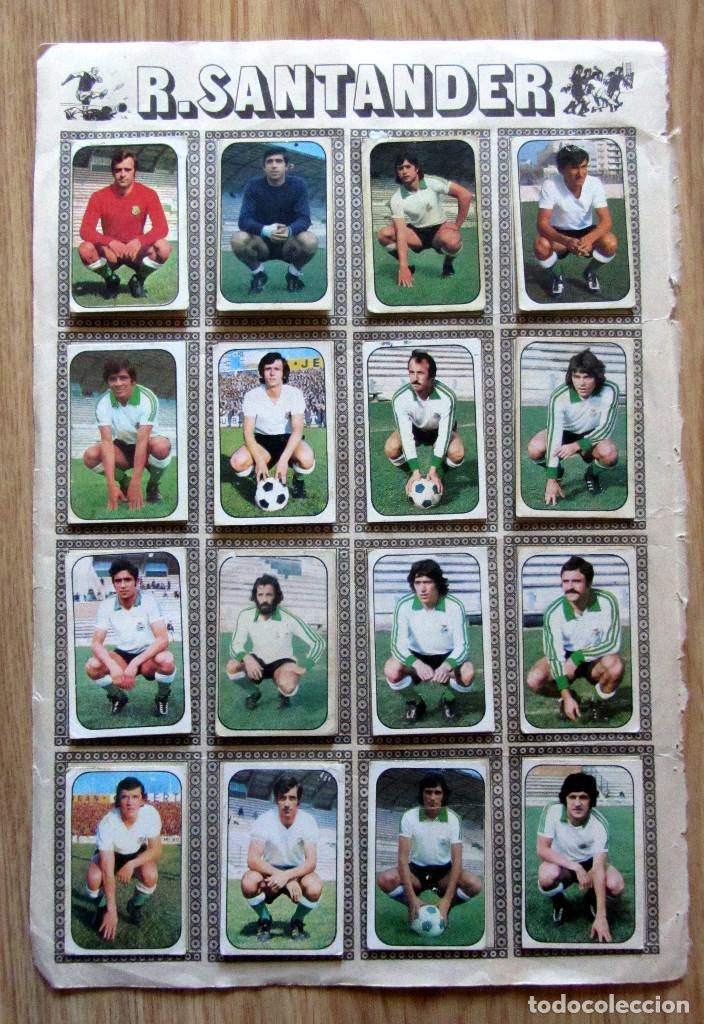 ALBUM EDICIONES ESTE LIGA 1976/77 76-77 PAGINA RACING SANTANDER HERCULES CF (Coleccionismo Deportivo - Álbumes y Cromos de Deportes - Cromos de Fútbol)