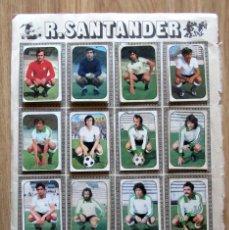 Cromos de Fútbol: ALBUM EDICIONES ESTE LIGA 1976/77 76-77 PAGINA RACING SANTANDER HERCULES CF. Lote 161536694