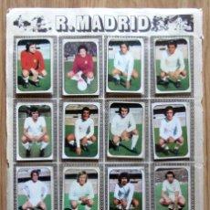 Cromos de Fútbol: ALBUM EDICIONES ESTE LIGA 1976/77 76-77 PAGINA R.C.D. ESPAÑOL REAL MADRID AMANCIO NETZER RUBIÑAN. Lote 161537254