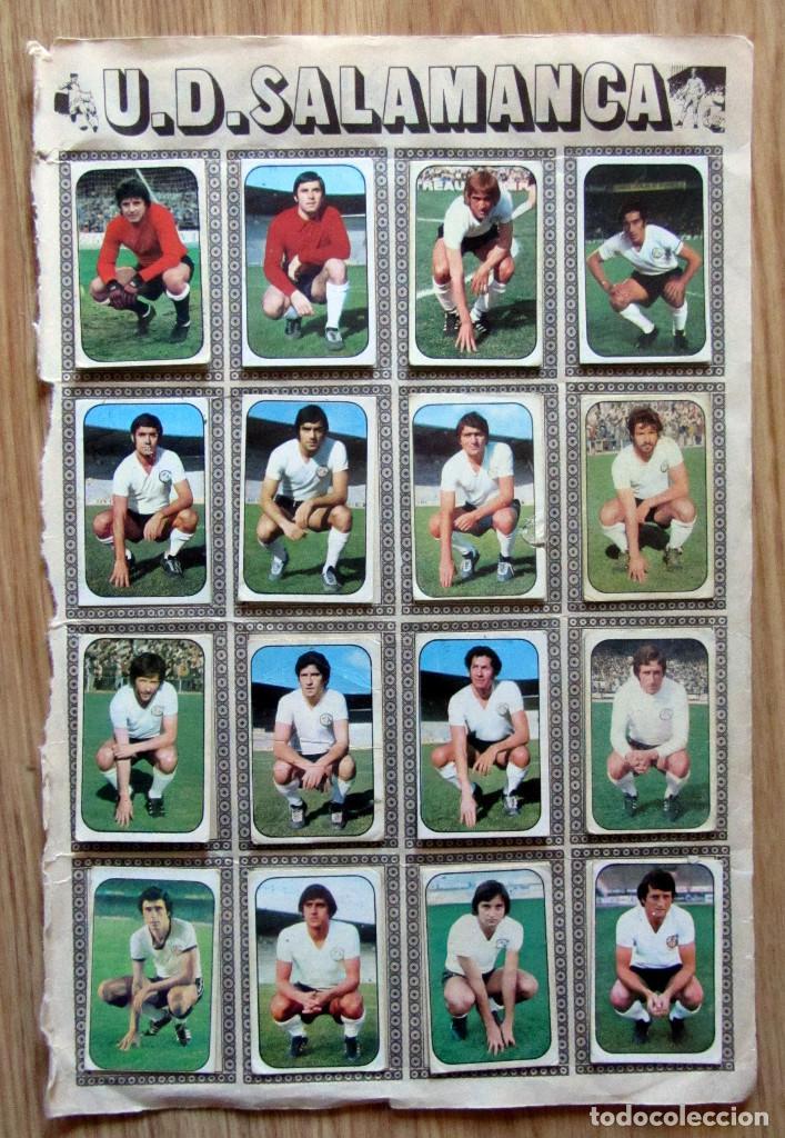 ALBUM EDICIONES ESTE LIGA 1976/77 76-77 PAGINA U.D. SALAMANCA VALENCIA C.F. (Coleccionismo Deportivo - Álbumes y Cromos de Deportes - Cromos de Fútbol)