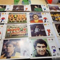 Cromos de Fútbol: LOTE 36 FICHAS ESTRELLAS MUNDIAL 82 BRUGUERA CON ARCHIVADOR. Lote 161836425