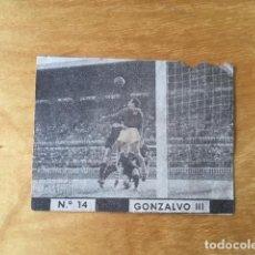 Cromos de Fútbol: SIN PEGAR - AÑOS 40 / 50 - GONZALVO III - FC BARCELONA - CHOCOLATES FONT - 14 (LEED DESCRIPCION). Lote 161861202