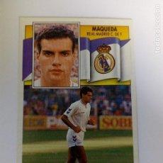 Cromos de Fútbol: MAQUEDA COLOCA 90/91, REAL MADRID, EDITORIAL ESTE NUEVO. Lote 162287798
