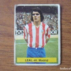Cromos de Fútbol: CROMO FUTBOL FINI 75 76 LEAL (ATLETICO MADRID) - NUNCA PEGADO - LIGA 1975 1976. Lote 162306386