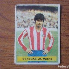 Cromos de Fútbol: CROMO FUTBOL FINI 75 76 BENEGAS (ATLETICO MADRID) - NUNCA PEGADO - LIGA 1975 1976. Lote 162398954