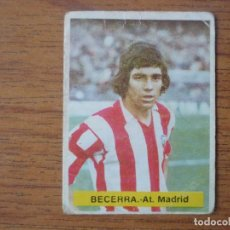 Cromos de Fútbol: CROMO FUTBOL FINI 75 76 BECERRA (ATLETICO MADRID) - NUNCA PEGADO - LIGA 1975 1976. Lote 162399506